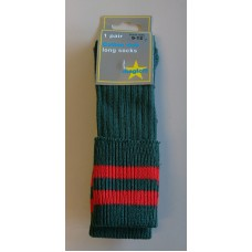 Moorfield Boys Red/Green Knee High Socks